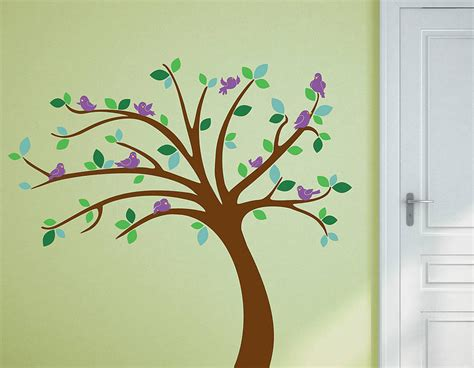 childrens tree wall sticker set contemporary wall stickers