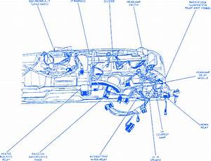 Jeep Cherokee Wagoneer 1989 Under Dash Electrical Circuit Wiring Diagram