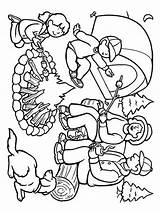 Camping Coloring Mycoloring Printable sketch template