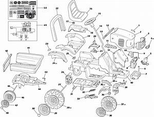 Peg Perego John Deere Power Pull Parts
