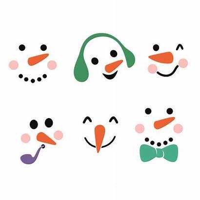 Snowman Face Faces Silhouette Svg Cricut Cuttable
