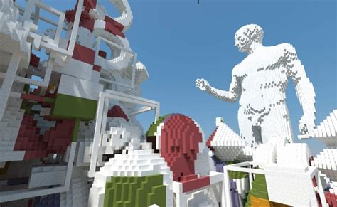 creating  worlds largest virtual sculpture  minecraft liverpool biennial  contemporary art