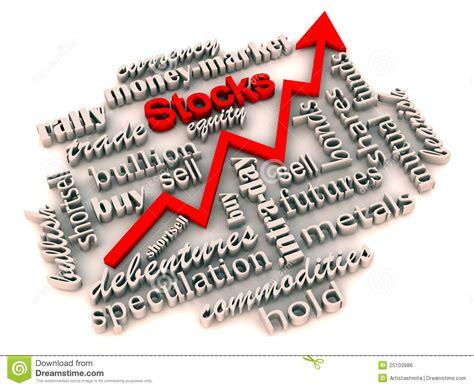 Rising Stocks And Investment Market Stock Illustration