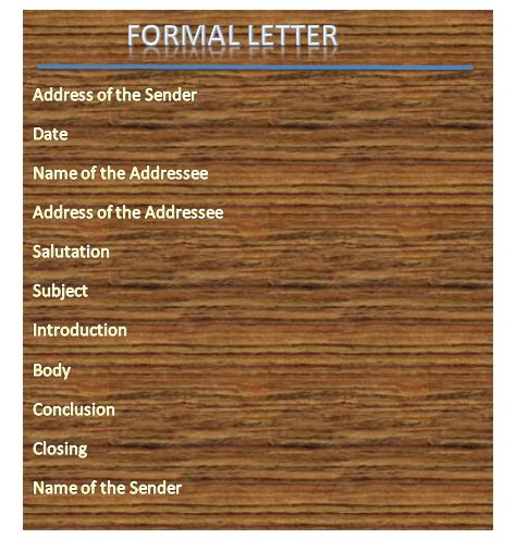 types  formal letters  samples formal letter format