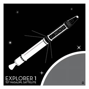 Explorer 1 Satellite - 10x10 Giclee Print - Monkey Minion ...