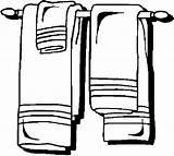Rack Towel Bathroom Coloring Pages sketch template