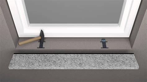 granit fensterbank einbauen fensterbank einbausystem