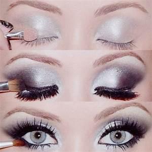 Silver and black smokey eye   Makeup   Pinterest