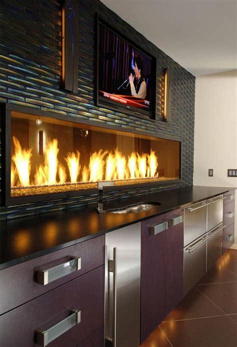 Kitchen Gas Fireplace - restaurant design home ideas futura casa hogar chimeneas