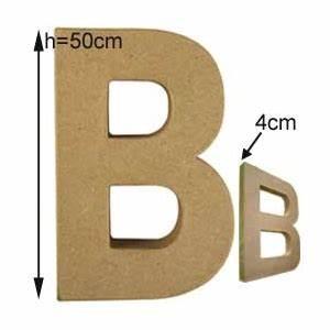 Lettre En Carton À Peindre : lettre 3d g ante b 50cm en carton maison pratic boutique pour vos loisirs creatifs et votre deco ~ Nature-et-papiers.com Idées de Décoration