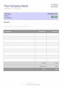 Free invoice timesheet templates cashboard for Written estimate template