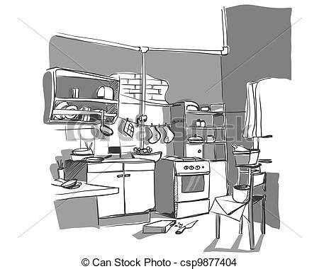 kitchen design sketch kitchen sketch eps vector search clip illustration 1358