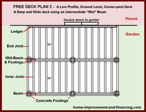 12x16 Free Standing Deck Plans by 12x12 Deck Plans Images 12 X 12 Deck