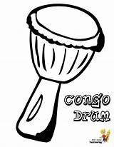 Coloring Musical Pages Drum Drums Printables Congo Djembe Africa African Boys Instruments Instrument Colouring Multicultural Yescoloring Mini Pounding Conga sketch template