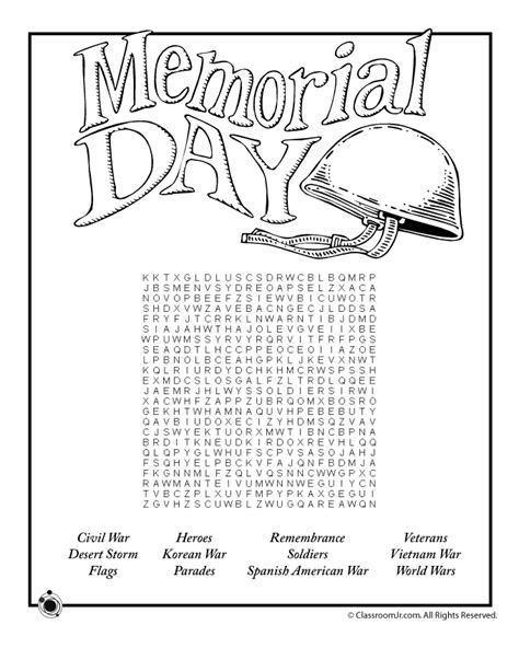 memorial day worksheets  kids woo jr kids activities