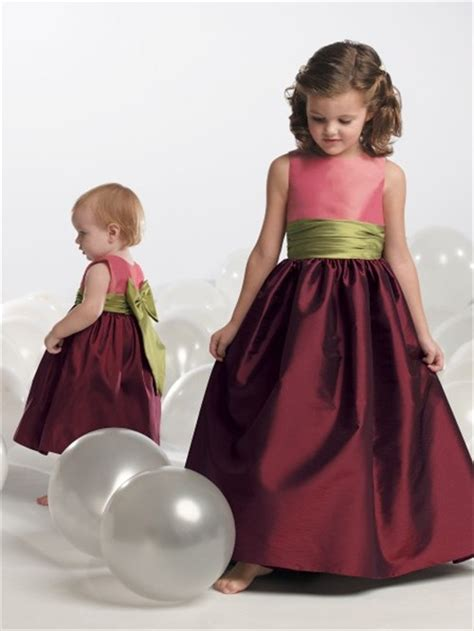 princess scoop tea length burgundy taffeta toddler