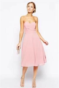 petite robe rose pastel a bustier coeur pour cocktail With robe couleur pastel pour mariage