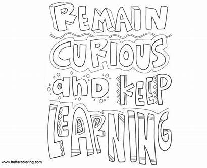 Mindset Growth Coloring Pages Learning Keep Remain