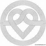 Coloring Pages Infinity Sign Printable Patterns Pattern Sheets Getcolorings Marvellous sketch template