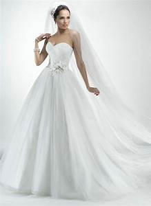 tulle ball gown bridal dress handmade flowers glamorous With low cut wedding dresses