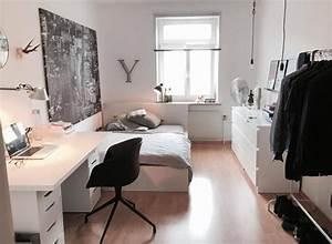 Wg Zimmer Einrichten : helles wg zimmer mit schichter und moderner einrichtung ~ Watch28wear.com Haus und Dekorationen