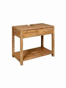meuble bois sous vasque myqtocom With meuble sous vasque en bois massif