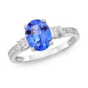 two diamond ring 1 50 ct evening sky tanzanite diamond ring richland