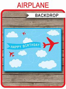 Halloween Printable Invitations Printable Airplane Party Backdrop Sign Party Decorations