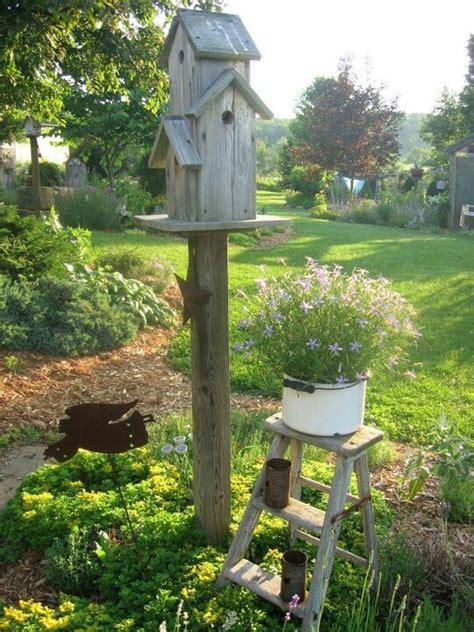 love  farm style setting  birdhouse wooden