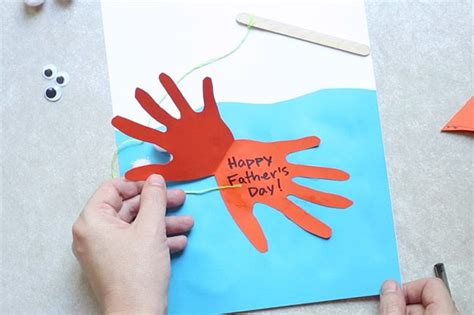 s day handprint card ideas fish handprint card daycare crafts s day cool