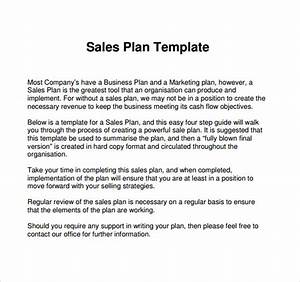 sample sales plan template 24 free documents in pdf With business plan to increase sales template