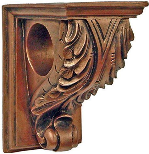 Window Sconces Curtain Drapery Sconces by Details About Corbel Drapery Curtain Rod Holder Set Of