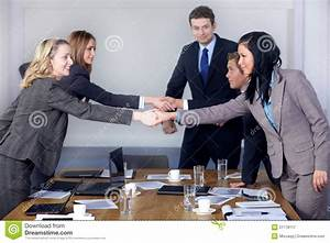 Welcome Handshake Before Business Meeting Royalty Free ...