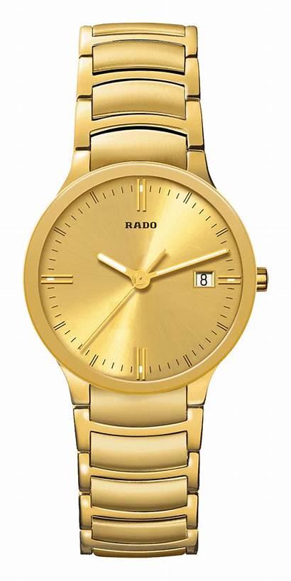 Rado Watches Gold Mens 24k Centrix 14k