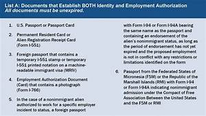 how employers correctly complete form i 9 and form i 9 With list acceptable documents i 9