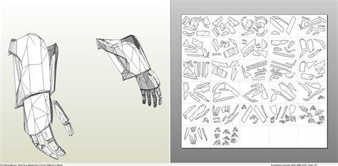 papercraft pdo file template  skyrim full dwarven armor