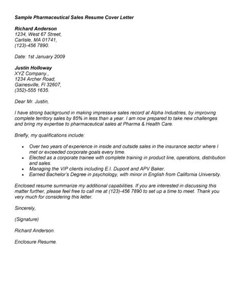 Cover Letters For Pharmaceutical Sales by Pharmaceutical Sales Cover Letter Resume Badak