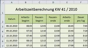 Stunden Berechnen Excel : excel zahlen rechnen mit uhrzeit ~ Themetempest.com Abrechnung