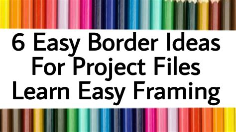 unique easy paper border designs  projects  design