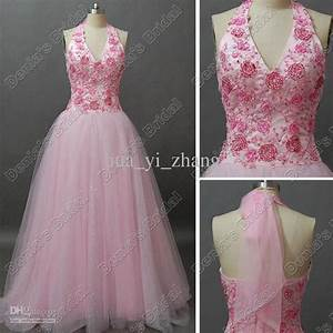 discount pink glitter flower beaded tulle wedding dress With pink sparkly wedding dresses