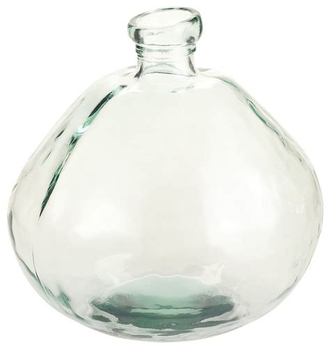 Narrow Glass Vase by Recycled Glass Vase Narrow Neck Contemporary Vases