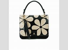 Orla Kiely Leather Ivy Bag Marble Free UK Delivery