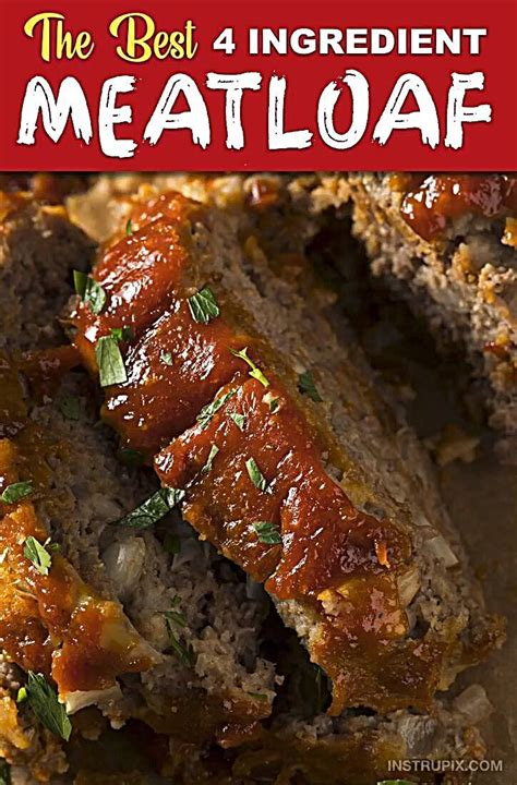 This dish is typically baked but slow cooker and microwave oven are sometimes used. 4 Ingredient Meatloaf (Ahhhmazing!) | Recipe in 2020 | Classic meatloaf recipe, Best meatloaf ...