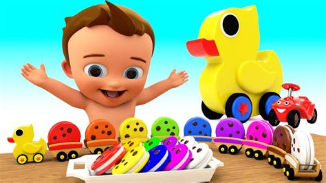 Toy Duck Train Color Cookies Toy Set