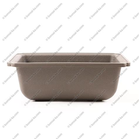pot de culture rectangulaire plastique inject 233 brun 175x125x65mm bonsai ka