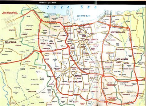 jakarta map  jakarta satellite image
