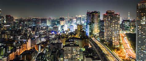 Fondos De Pantalla 2560x1080 Tokio Japón Casa Noche
