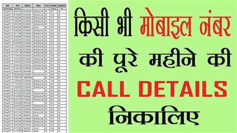 How To Get A Mobile Number by How To Get Call Details Of Any Mobile Number Get Call