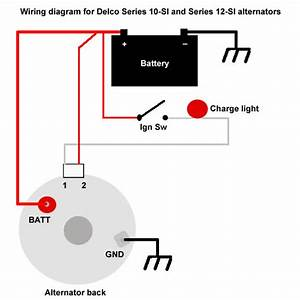 Two Wire Delco Alternator Wiring Diagram