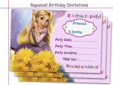 amazing rapunzel birthday invitations  holidaypartystar